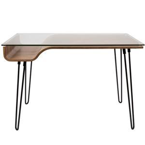 Lumisource Avery 23-in x 44.5-in x 31-in Black and Walnut Desk