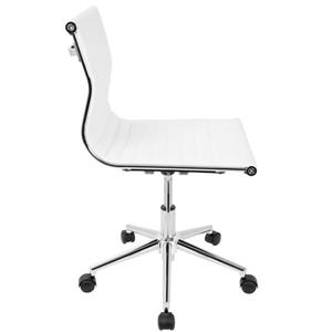 "Lumisource Masters 17"" x 17"" x 20"" White Faux Leather Chair"