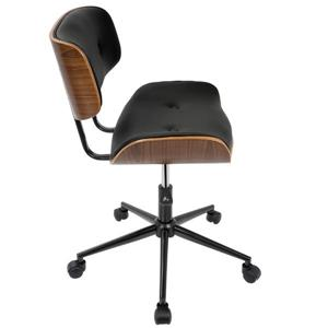 Lumisource Lombardi 18.25-in x 21.75-in Black Faux Leather Chair