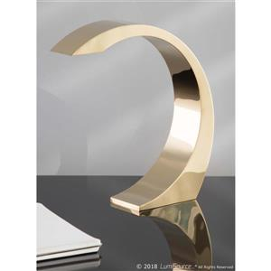Lumisource Element Touch 2.5-in x 13-in Polished Gold Finish Table Lamp