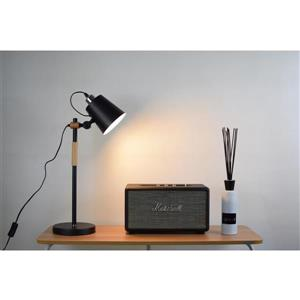 P.W. Design Rita 22-in Black Matt Table Lamp