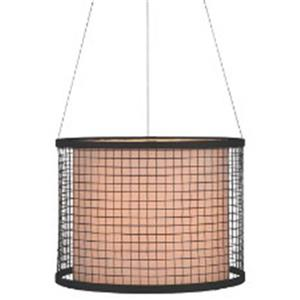 P.W. Design Cabo 16-in Bronze Drum Lampshade Pendant Light