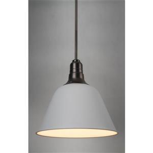 P.W. Design Celine 14-in White Metal 1-Light Pendant
