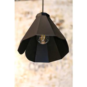 P.W. Design Pheobe Black 1-Light Pendant Light