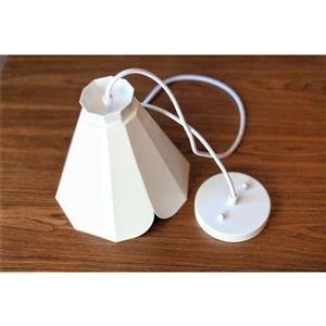 P.W. Design Pheobe White 1-Light Pendant Light