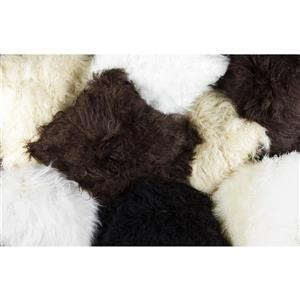 Natural by Lifestyle Brands Mongolian Gray 18-in x 18-in Sheepskin Pillow