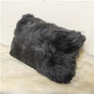 Natural by Lifestyle Brands Grey 12-in x 20-in Sheepskin Pillows (2 Pack)