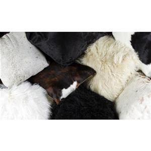 Natural by Lifestyle Brands Natural 12-in x 20-in Sheepskin Pillows (2 Pack)