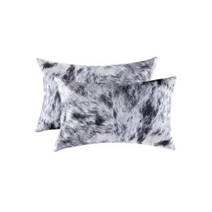 Natural by Lifestyle Brands 12-in x 20-in Black and White Kobe Cowhide Pillow (2 Pack)