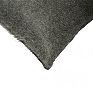 Natural by Lifestyle Brands 12-in x 20-in Gray and White Kobe Cowhide Pillow (2 Pack)