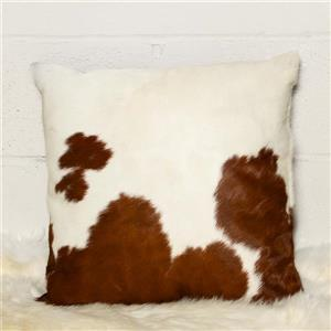 Natural by Lifestyle Brands 18-in Brown and White Kobe Cowhide Pillow (2 Pack)
