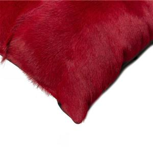 Natural by Lifestyle Brands 18-in Wine Kobe Cowhide Pillow (2 Pack)
