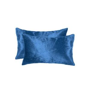 Natural by Lifestyle Brands 12-in x 20-in Sky Blue Torino Cowhide Pillow (2 Pack)