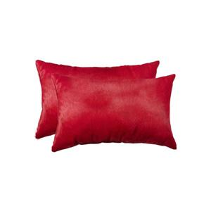 Natural by Lifestyle Brands 12-in x 20-in Wine Torino Cowhide Pillow (2 Pack)