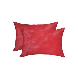 Natural by Lifestyle Brands Torino 12-in x 20-in Firecracker Cowhide Pillow (2 Pack)