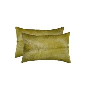 Natural by Lifestyle Brands Torino 12-in x 20-in Lime Cowhide Pillow (2 Pack)