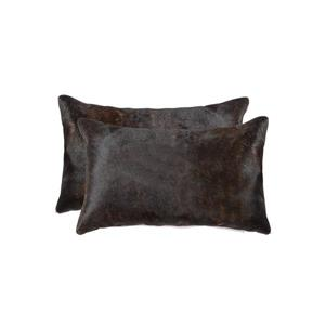 Natural by Lifestyle Brands Torino Chocolate 12-in x 120-in Cowhide Pillows (2 Pack)
