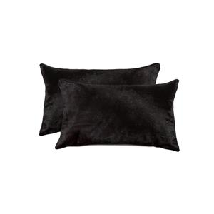 Natural by Lifestyle Brands Torino Black 12-in x 120-in Cowhide Pillows (2 Pack)