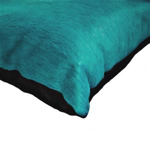 Natural by Lifestyle Brands 18-in Sky Blue Torino Cowhide Pillow (2 Pack)