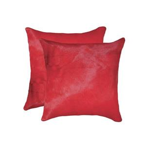Natural by Lifestyle Brands 18-in Firecracker Torino Cowhide Pillow (2 Pack)