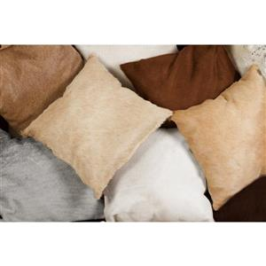 Natural by Lifestyle Brands 18-in Natural Torino Cowhide Pillow (2 Pack)
