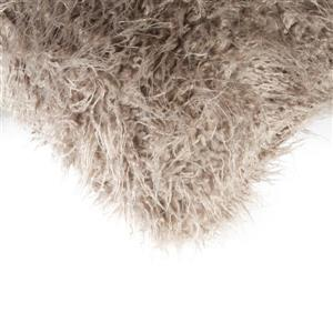 Luxe Mongolian Tan 20-in x 20-in Faux Fur Pillows (2 Pack)