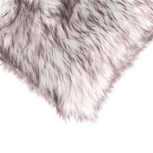 LUXE Belton 18-in Square Chocolate Faux Fur Pillows (2 Pack)