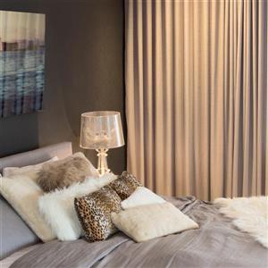 Luxe Belton 12-in x 20-in Leopard Faux Fur Pillows (2 Pack)