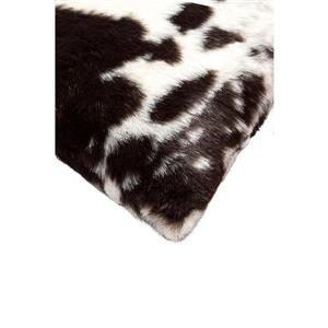 Luxe Belton 12-in x 20-in Brown and White Faux Fur Pillows (2 Pack)