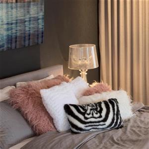 Luxe Belton 12-in x 20-in Zebra Faux Fur Pillows (2 Pack)