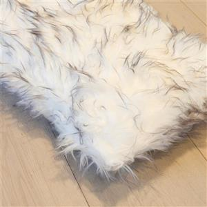 Luxe Belton 12-in x 20-in Gradient Gray Faux Fur Pillows (2 Pack)
