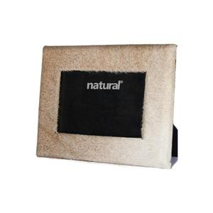 Natural by Lifestyle Brands 8 x 10 Off-White Durango Cowhide Picture Frame