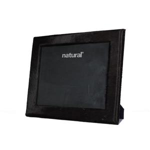 Natural by Lifestyle Brands 8 x 10 Black Durango Cowhide Picture Frame