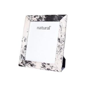 Natural by Lifestyle Brands 8 x 10 Black & White Durango Cowhide Picture Frame
