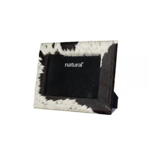 Natural by Lifestyle Brands 5 x 7 Black & White Durango Cowhide Picture frame