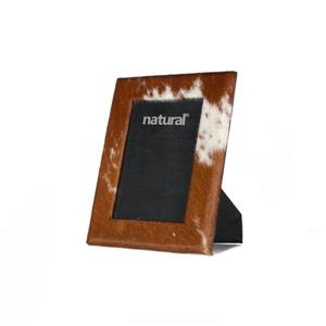Natural by Lifestyle Brands 5 x 7 Brown & White Durango Cowhide Picture Frame