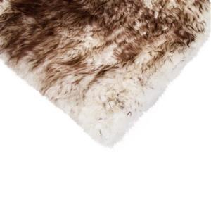 Natural by Lifestyle Brands Sheepskin Chair Seat Cover - 1/PK - Chocolate