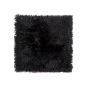Natural by Lifestyle Brands Sheepskin Chair Seat Cover  -1/PK - Black
