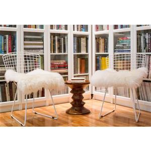 Natural by Lifestyle Brands Cream 17-in X 17-in Sheepskin Chair Seat Cover (1-Pack)