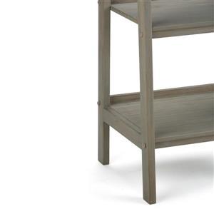 Simpli Home Sawhorse 72-in x 24-in Distressed Gray Pine Padder Shelf