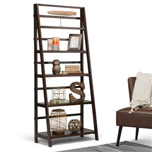 Simpli Home Acadian 72-in x 30-in Pine Tobacco Brown Bookcase