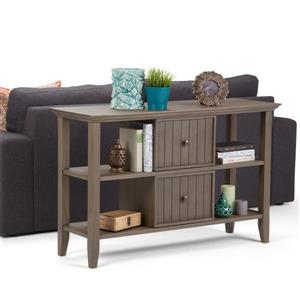 Simpli Home Acadian 30-in Gray Console Sofa Table