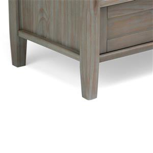 Simpli Home Warm Shaker 29.5-in Gray Console Sofa Table