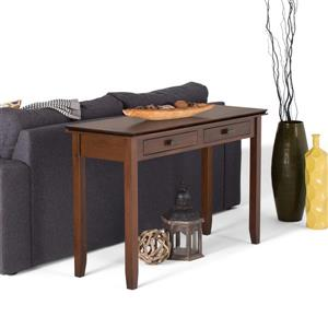Simpli Home Artisan 30-in Brown Wide Console Sofa Table