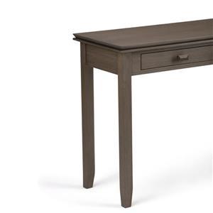 Simpli Home Artisan 29.5-in Farmhouse Gray Console Sofa Table