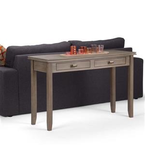 Simpli Home Artisan 29.5-in Distressed Gray Console Sofa Table