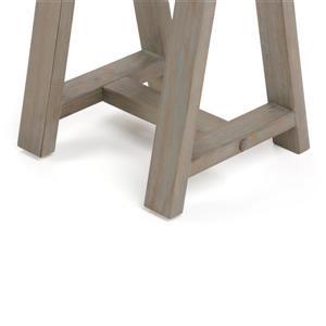 Simpli Home Sawhorse 29.5-in Gray Console Sofa Table