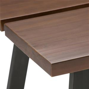 Simpli Home Adler 29.9-in Brown Console Sofa Table