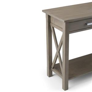 Simpli Home Kitchener 28.9-in Gray Console Sofa Table