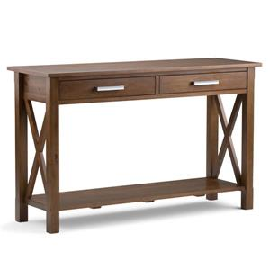 Simpli Home Kitchener 28.9-in Brown Console Sofa Table